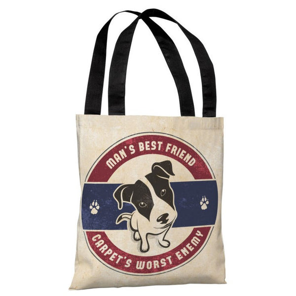 Mans Best Friend Carpets Worst Enemy Tote Bag by OneBellaCasa.com
