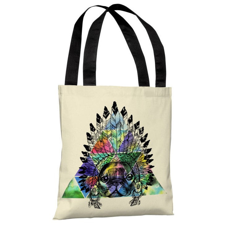 Pug Headdress Tote Bag by OBC