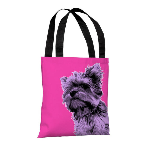 Whisker Dogs Yorkie Tote Bag by OneBellaCasa.com