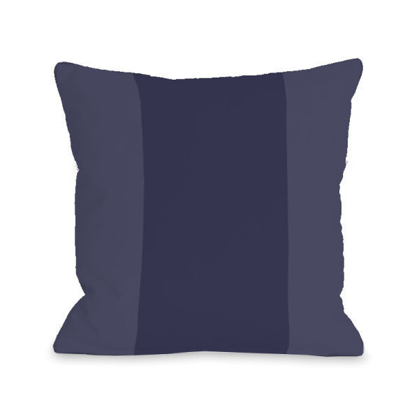 Color Block Midnight Outdoor Throw Pillow by OBC