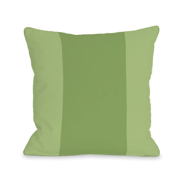 Color Block Olive Outdoor Throw Pillow by OBC
