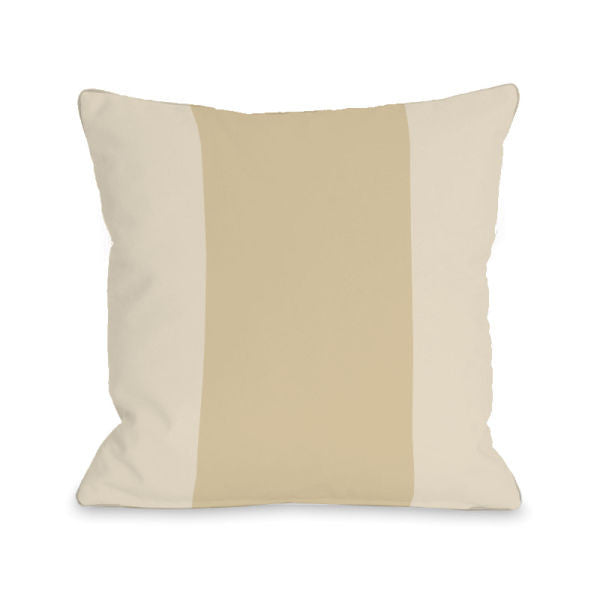 Color Block Sand Outdoor Throw Pillow by OBC