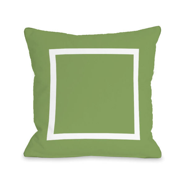 Open Box Olive Outdoor Throw Pillow by OBC