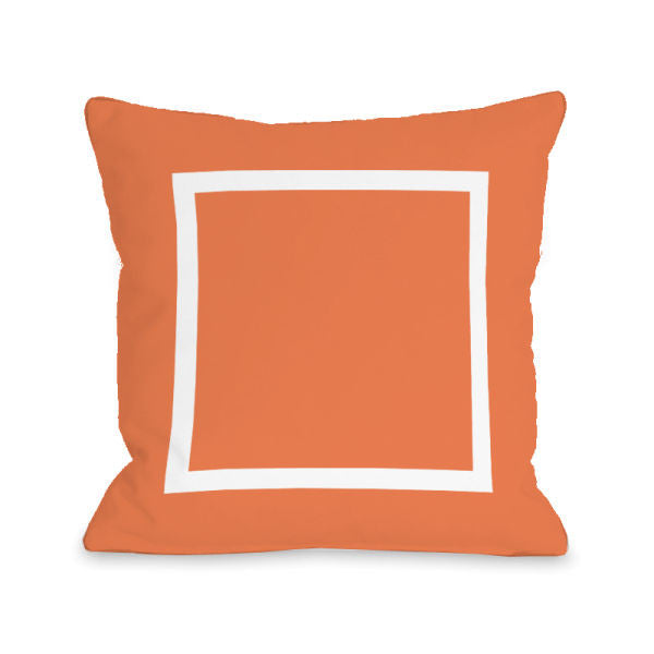 Open Box Tangerine Outdoor Throw Pillow by OBC