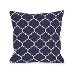 Repeating Moroccan Midnight Outdoor Throw Pillow by OBC