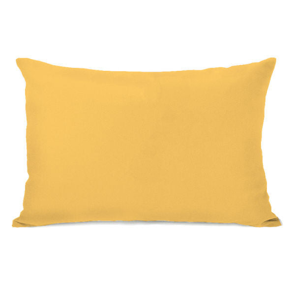 Solid Color Dandelion Outdoor Throw Pillow by OBC