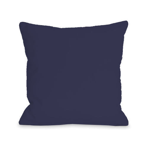 Solid Color Midnight Outdoor Throw Pillow by OBC