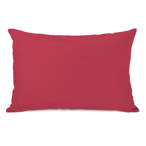 Solid Color Rose Outdoor Throw Pillow by OBC