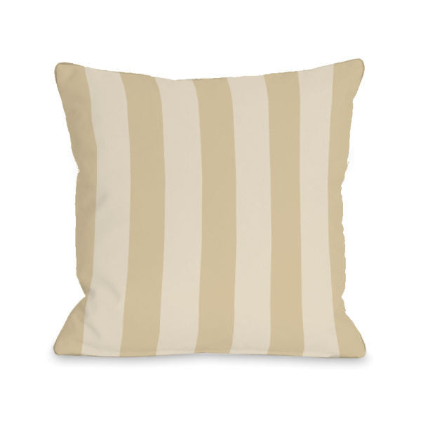 Stripey Sand Outdoor Throw Pillow by OBC