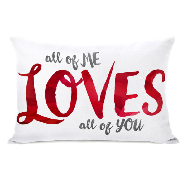All of Me Watercolor Throw Pillow by OBC