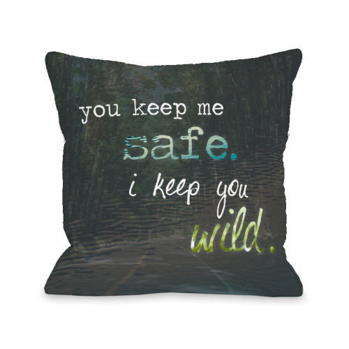 Safe Wild Nature Throw Pillow by OBC