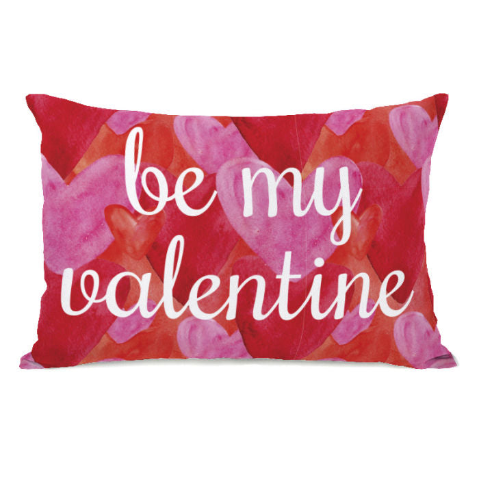 Be My Valentine Hearts RedPink - Red Pink 14x20 Pillow by OBC