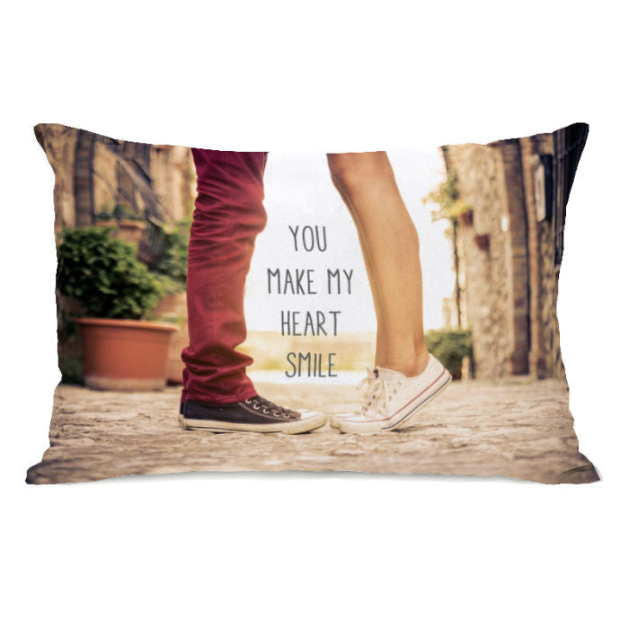 Heart Smile Feet  Throw Pillow by OBC