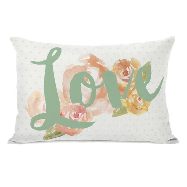 Peony Love Throw Pillow by OBC