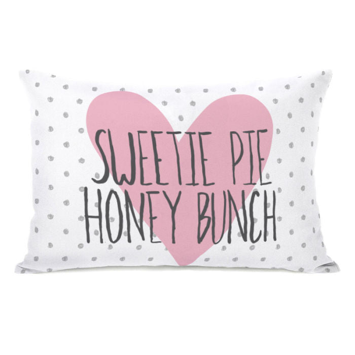 Sweetie Pie Honey Bunch Dots Throw Pillow by OBC