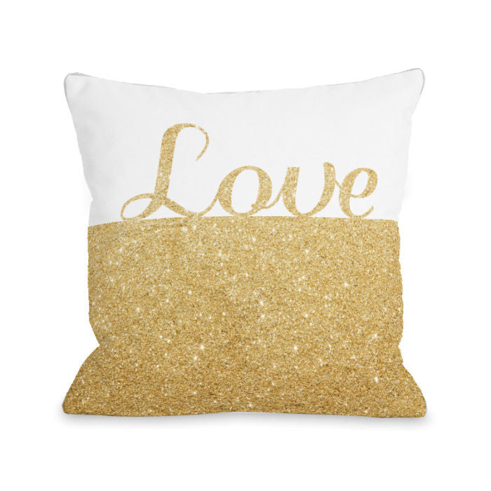 Sparkle Love Throw Pillow by OBC