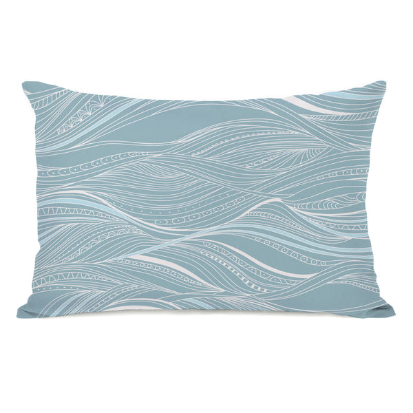Abstract Ocean Pattern Throw Pillow by OneBellaCasa.com