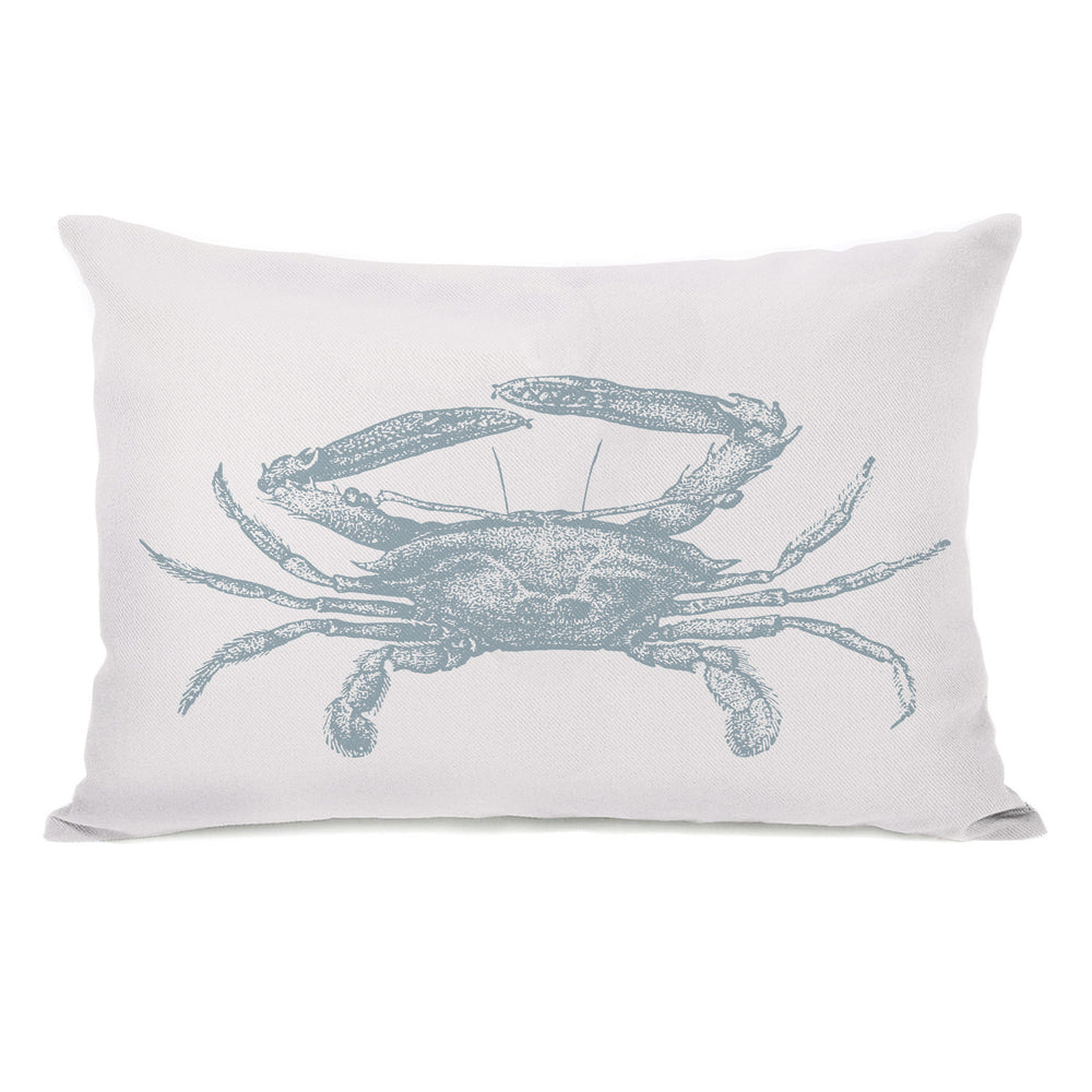 Natural Crab Throw Pillow by OBC