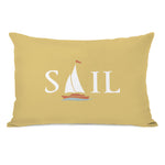 Sail Ship Throw Pillow by OBC