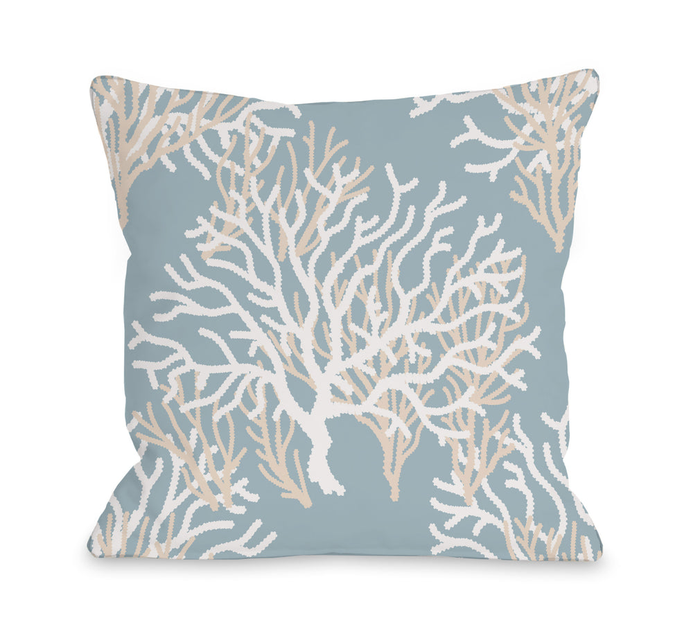 Coral Pattern Throw Pillow by OBC