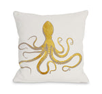 Octo Silo Gold Throw Pillow by OBC