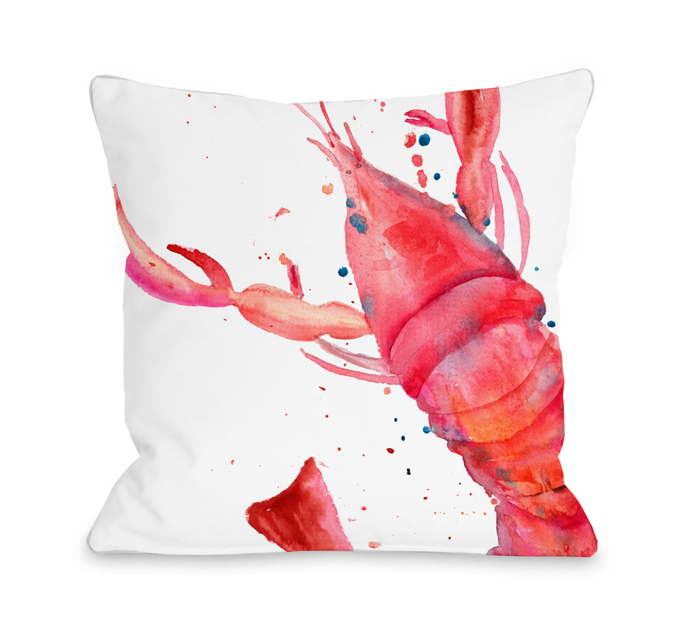 Oversized Lobster Throw Pillow by OBC