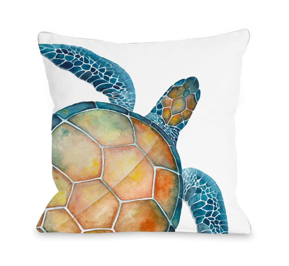 Oversized Sea Turtle Throw Pillow by OBC