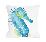 Oversized Seahorse Throw Pillow by OBC