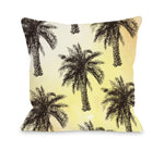 Palm Tree Pattern Throw Pillow by OBC