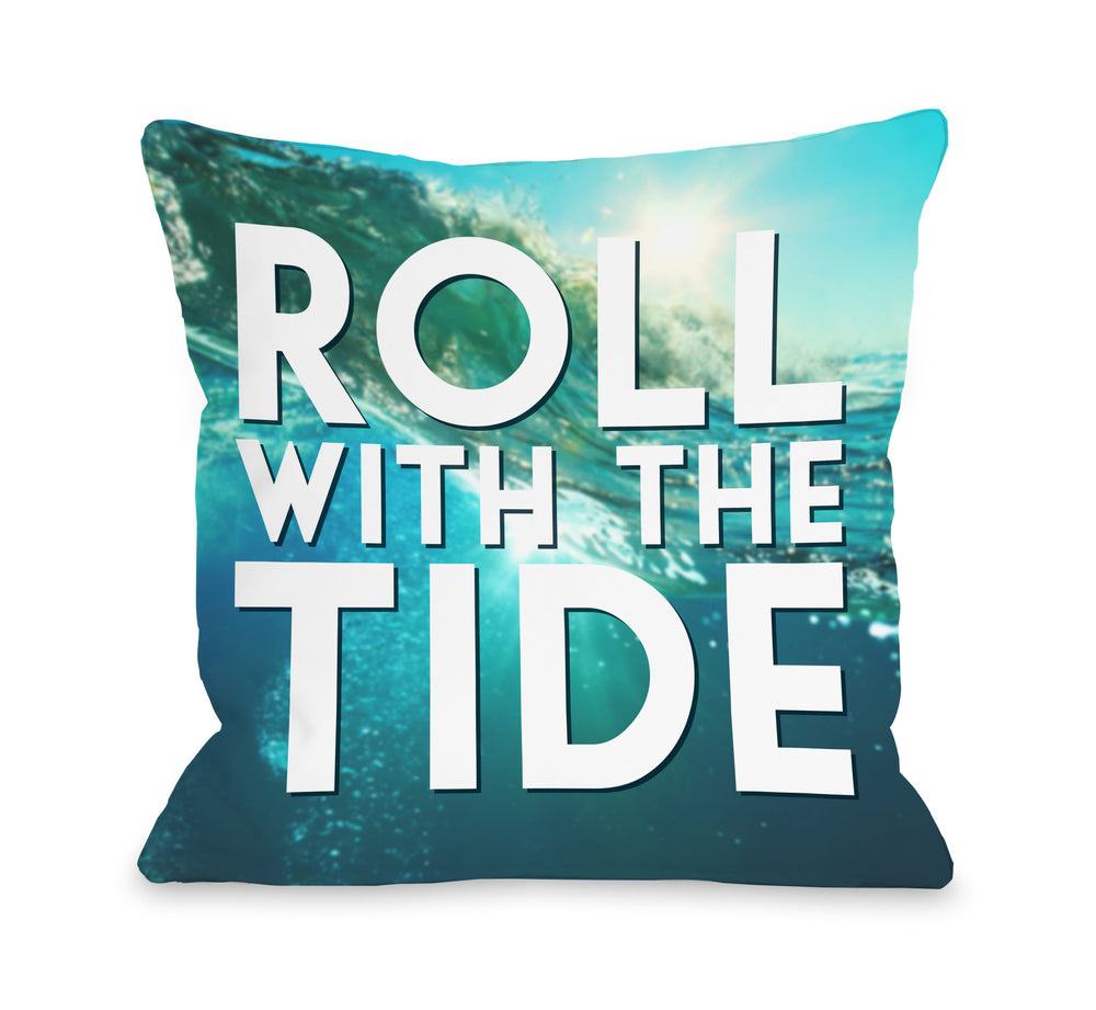 Roll With The Tide Throw Pillow by OBC