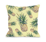 Summer Pineapple Print Throw Pillow by OBC