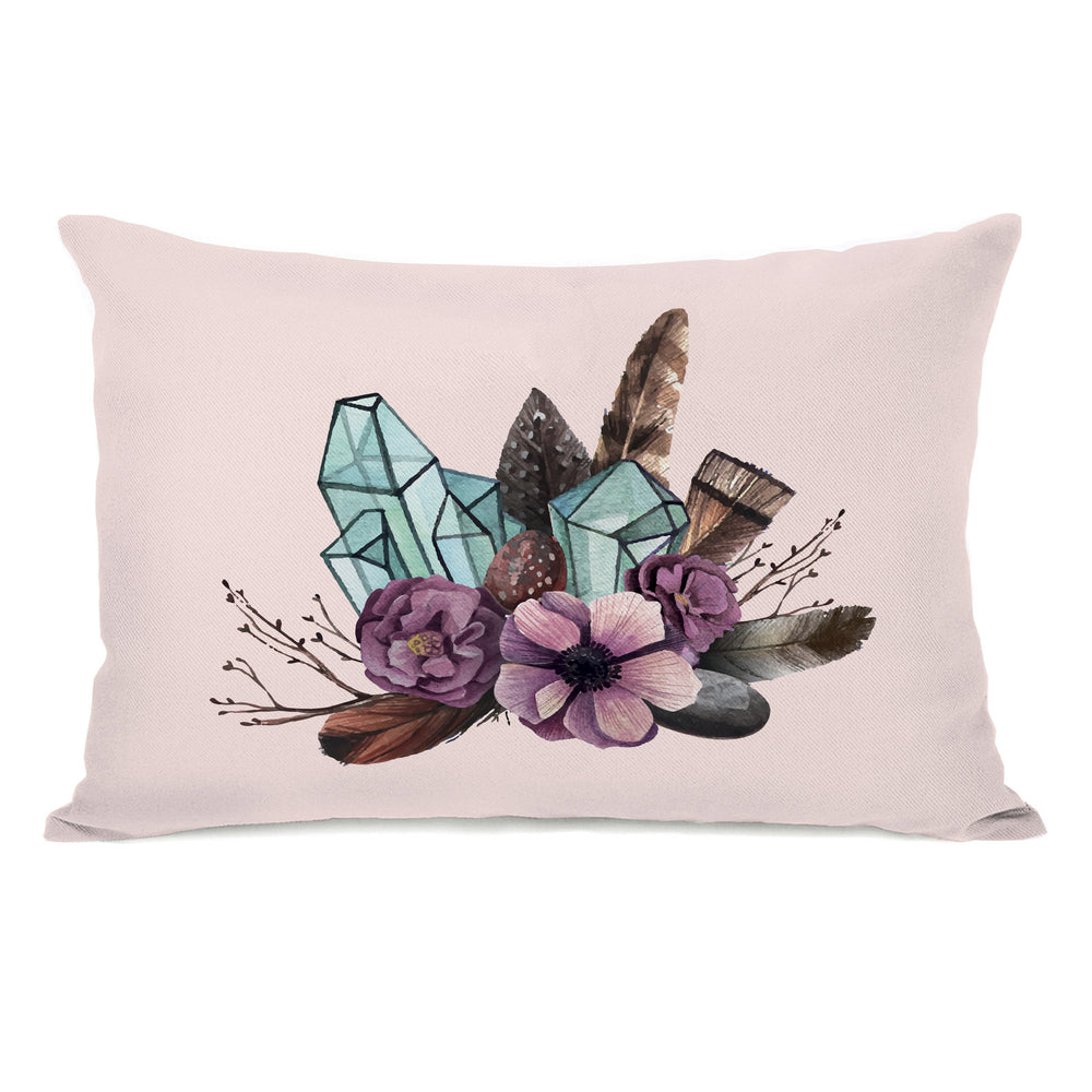 Crystal Bunch Throw Pillow by OBC