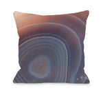 Agate Mineral Throw Pillow by OBC