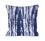 Dye Pattern Midnight Throw Pillow by OBC