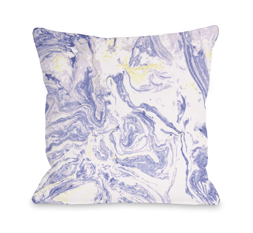 Marble Meadow Throw Pillow by OBC