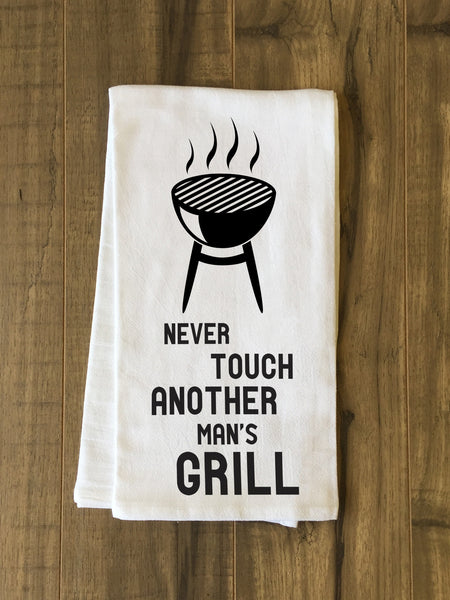 Another Mans Grill Tea Towel by OneBellaCasa.com