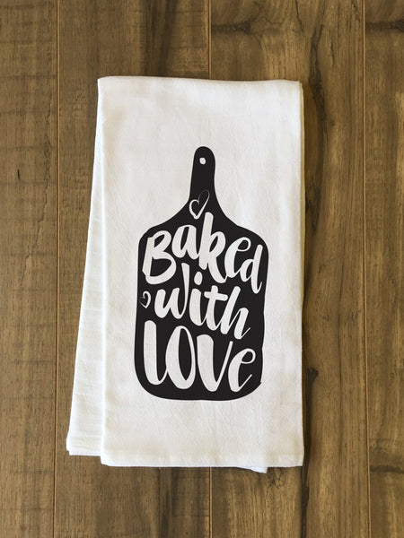 Baked With Love Tea Towel by OneBellaCasa.com