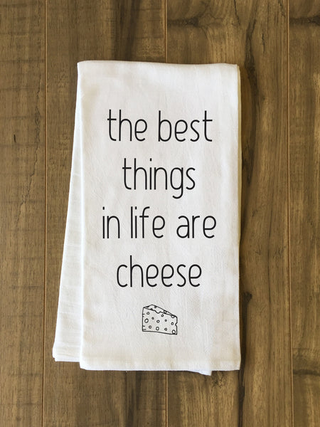 Cheese Tea Towel by OneBellaCasa.com