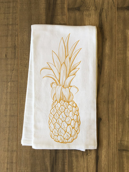 Golden Pine Tea Towel by OneBellaCasa.com