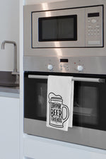 Good Beer Good Friends Kitchen Towel By OBC