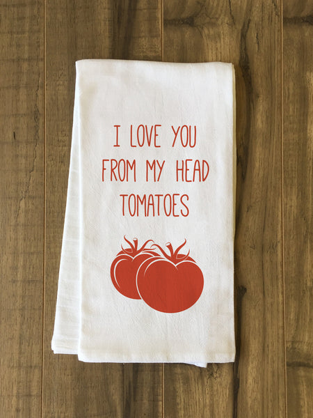 Head Tomatoes Tea Towel by OneBellaCasa.com