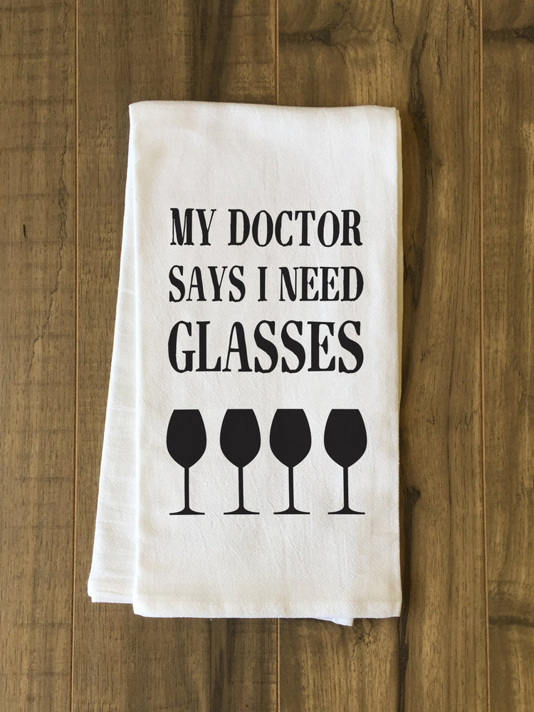 I Need Glasses Tea Towel by OBC