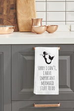 Important Mermaid Stuff Kitchen Towel By OBC