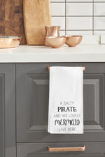 Salty Pirate Lovely Mermaid Kitchen Towel By OBC
