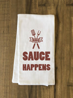 Sauce Happens Tea Towel by OBC