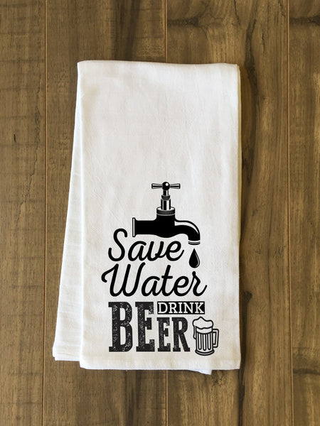 Save Water Tea Towel by OneBellaCasa.com