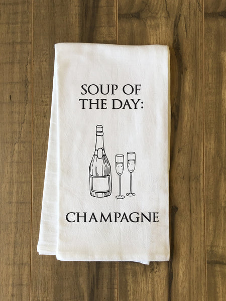 Soup Of The Day Tea Towel by OneBellaCasa.com