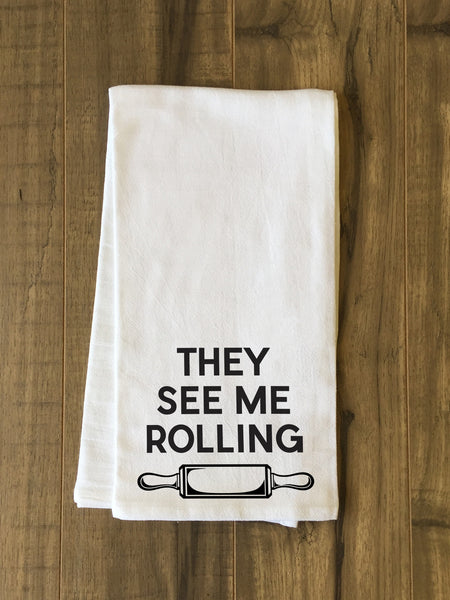 They See Me Rolling Tea Towel by OneBellaCasa.com