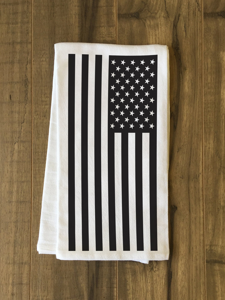 USA Flag Tea Towel by OBC