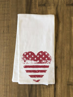 USA Heart Tea Towel by OBC
